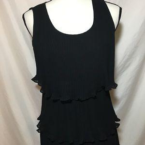 Like New Alfani Multi layered ruffled  blouse